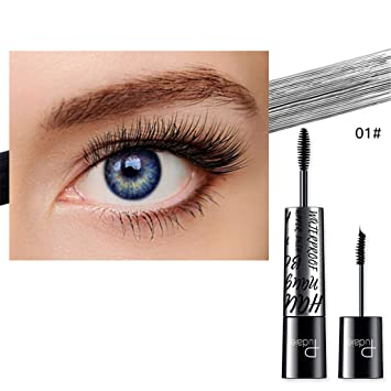 bf89a3391c6 Amazon.com : Sodoop 4D Silk Fiber Lash Mascara Double Head Grafted Grow Waterproof  Mascara For Eyelash Extension Black Thick Lengthening Eye Lashes Brush ...