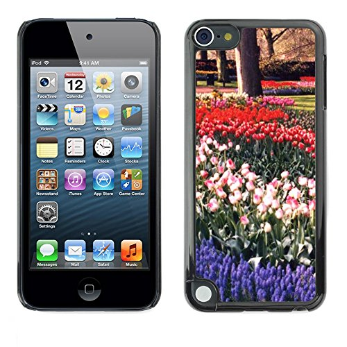 Soft Silicone Rubber Case Hard Cover Protective Accessory Compatible with Apple IPod Touch 5 - Plant Nature Forrest Flower 16