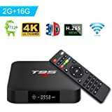 T95 S1 TV Box Androide 7.1 TV Box with Con Telecomando Amlogic S905W 2GB RAM 16GB ROM H.265 WiFi 4K HDMI Media Player