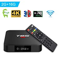 Android TV BOX, T95 S1 TV BOX 2GB RAM/16GB ROM Android 7.1 Amlogic S905W Quad Core Support 2.4Ghz WiFi H.265 4K HDMI DLNA Mini TV BOX