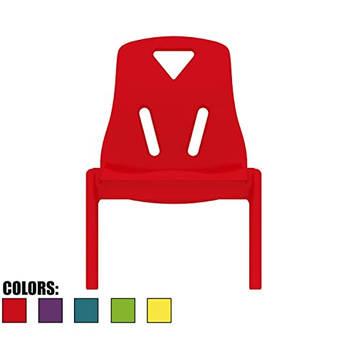 2xhome Kids Size Plastic Side Chair 10 Seat Height Childs Chair Childrens Room School Chairs No Arm Arms Armless Molded Plastic Seat Stackable Red