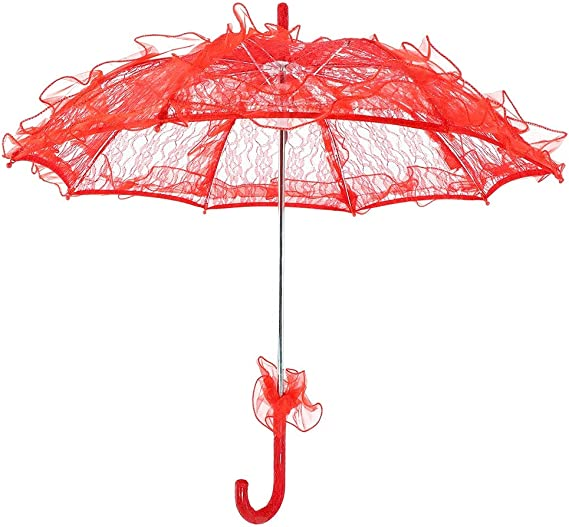 ombrello parasole sposa MATRIMONIO stoffa bianco ombrellino shabby pizz merletto