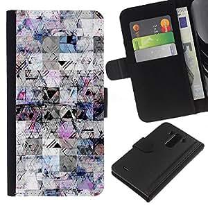 iBinBang / Flip Funda de Cuero Case Cover - Sketch Líneas tinta de la pluma del extracto del caos - LG Optimus G3