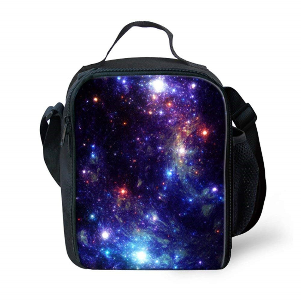showudesignsカラフルWarmer Lunchバッグwith Galaxy印刷for Children Kids S  galaxy 2 B07FRLH64F