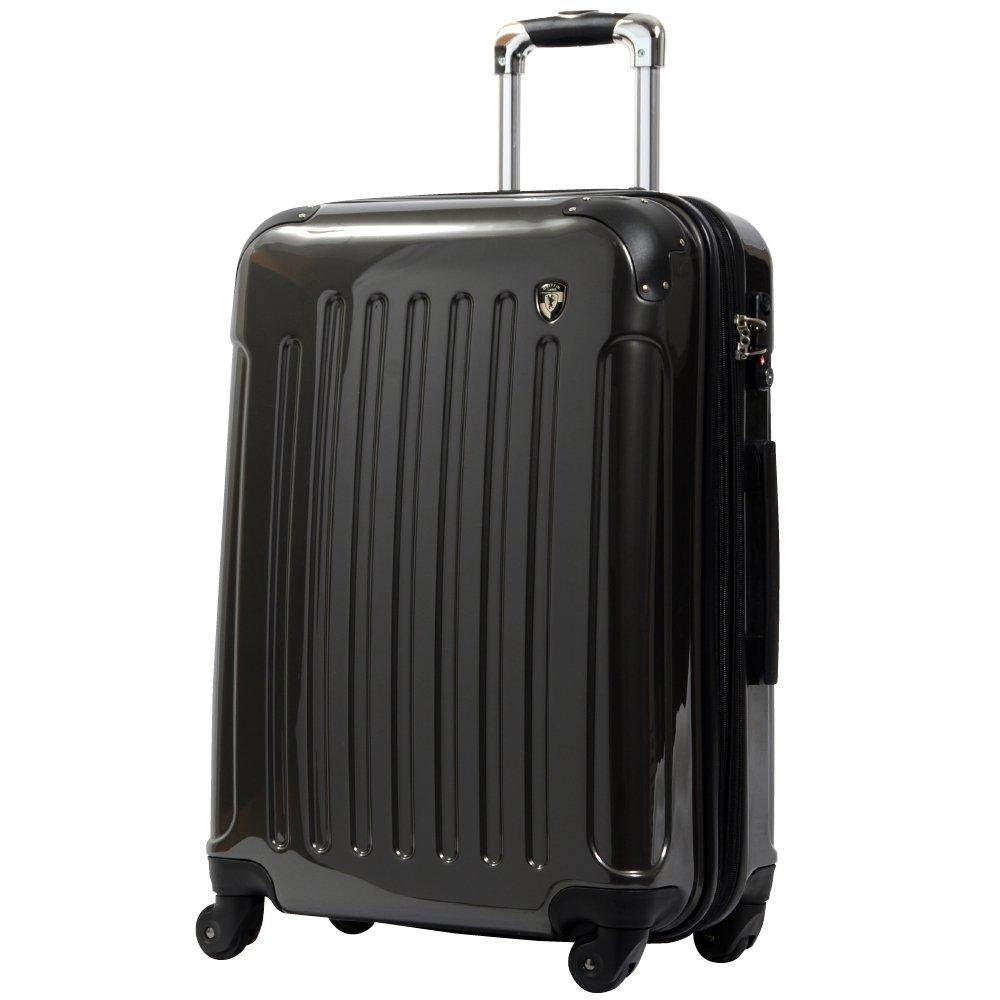 [グリフィンランド]_Griffinland TSAロック搭載 スーツケース 超軽量 ミラー加工 newFK1037 ファスナー開閉式 B003IML7C2 M(中)型|ナイトブラック ナイトブラック M(中)型
