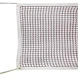 GeWeDen Badminton Net, Outdoor Indoor Badminton Tournament Net for Sports Backyard Garden Schoolyard (20 FT x 2.5 FT) with Rope Cable Top (Net Only)