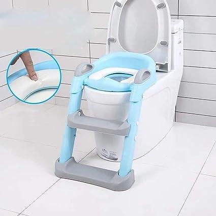 KUANDARYJ Aseo Escalera Asiento Escalera de Niños, Adaptador WC para Niños con Escalera Antideslizante tocador de niños Asiento para WC, Green: Amazon.es: Deportes y aire libre