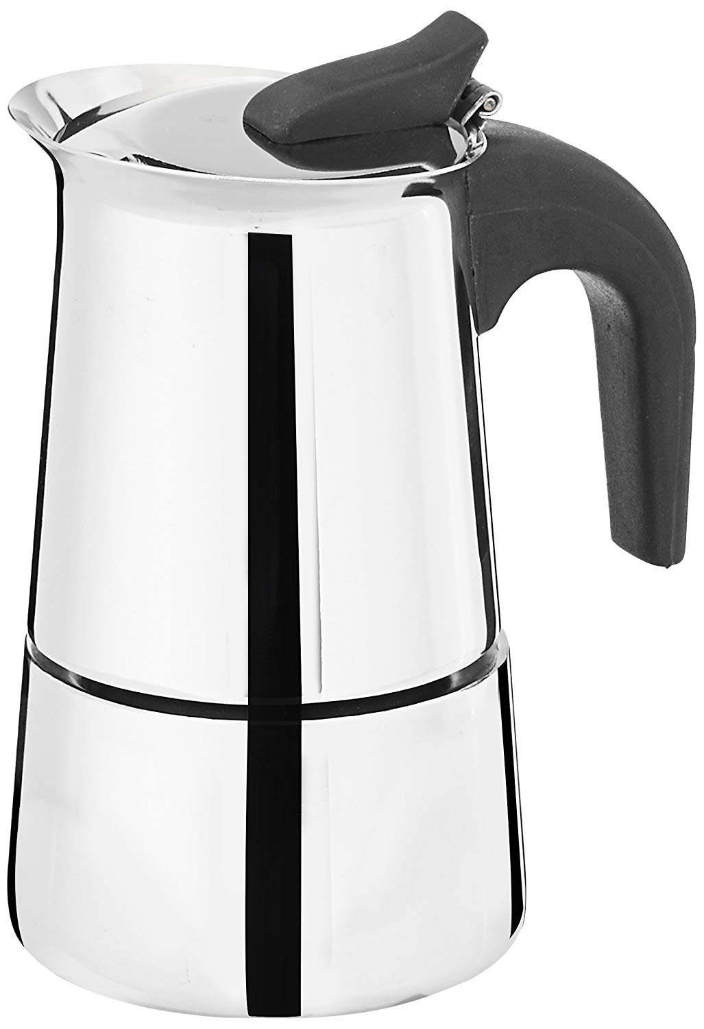 Embassy Stainless Steel Italian Coffee Percolator/Maker with Thick Gauge, 2 Cups