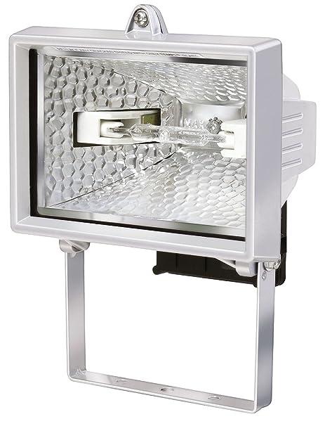 Strahler mit 1,5m Kabell/änge, 400 Watt Farbe Flutlicht Halogen ideal als mobiler Baustrahler Brennenstuhl Halogenstrahler blau