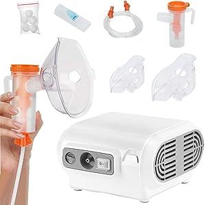 Handheld Nebulizer Steam Inhalers, Zionstyle Mini Nebulizer Portable Nebulizer for Kids, Steam Inhaler Vaporizer Working Modes for Better Atomization