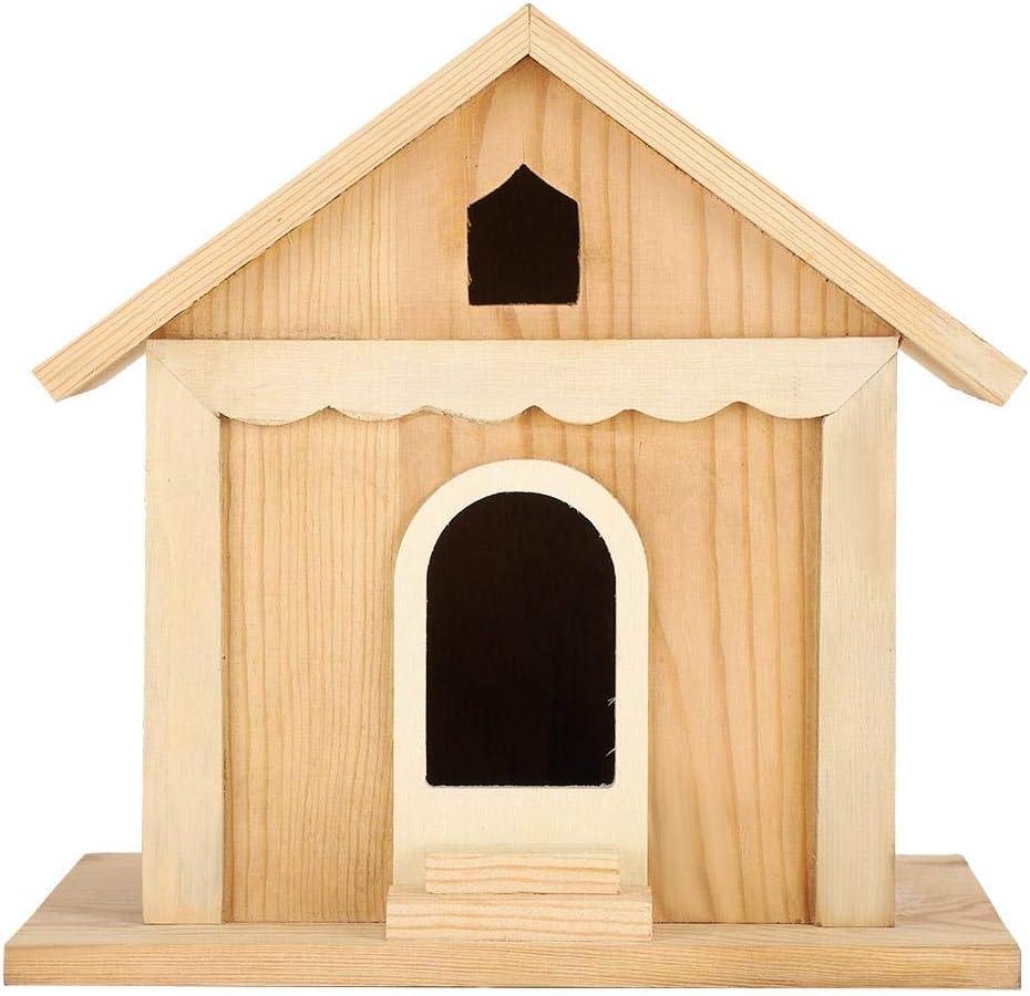 Fictory Birdhouse - Casa de Madera para pájaros DIY Loros Hechos a Mano Caja de Nido de pájaros Jardín al Aire Libre Decorativo