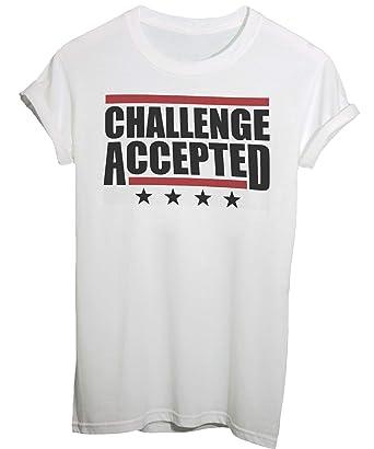 T Shirt How I Met Your Mother Sfida Accettata Citazioni Di Barney Stinson Divertente