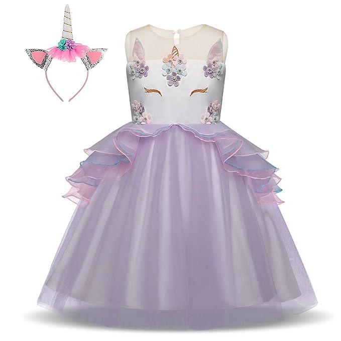 Bonito Disfraz de Unicornio de Princesa para niñas, Disfraz ...