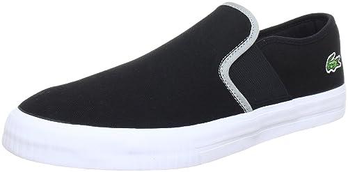Lacoste Lombarde CRE SPM - Zapatillas de casa de lona hombre, color negro, talla 46: Amazon.es: Zapatos y complementos