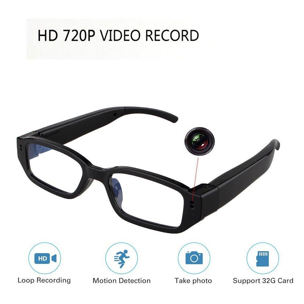 HD Hidden Glasses Camera Mini DVR Surveillance Eyewear Spy Camera - Video Loop Recording - Snapshot - Mini Digital Camera-USB Charger Support 32GB