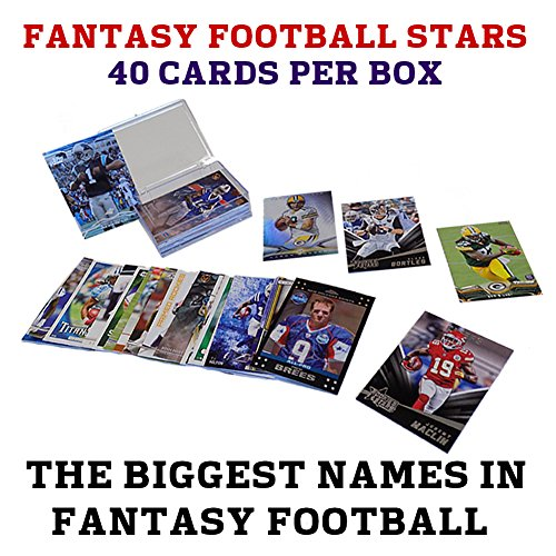 40 Fantasy Football Stars Card Collection + NFL Players include Rookies, Superstars, Veterans and Fantasy Football Heroes + GUARANTEED 2015 Fantasy Football Players such as Eddie Lacy, Adrian Peterson, Jamaal Charles, Dez Bryant, Julio Jones, Marshawn Lync