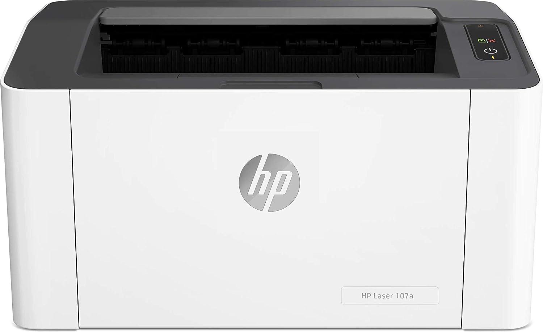 HP Laser 107A - Impresora láser (20 ppm, LED, USB 2.0 de alta velocidad), blanco
