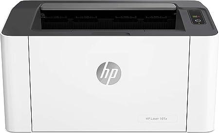 Oferta amazon: HP Laser 107A - Impresora láser (20 ppm, LED, USB 2.0 de alta velocidad), Impresión de blanco y negro, Color Blanco