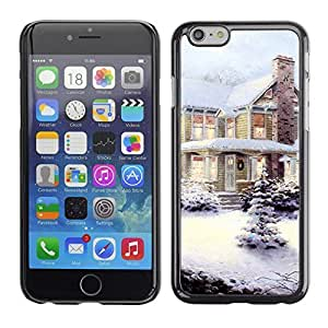 diy phone caseYOYO Slim PC / Aluminium Case Cover Armor Shell Portection //Christmas Holiday Snow Decorated House 1147 //Apple Iphone 6 Plus 5.5diy phone case