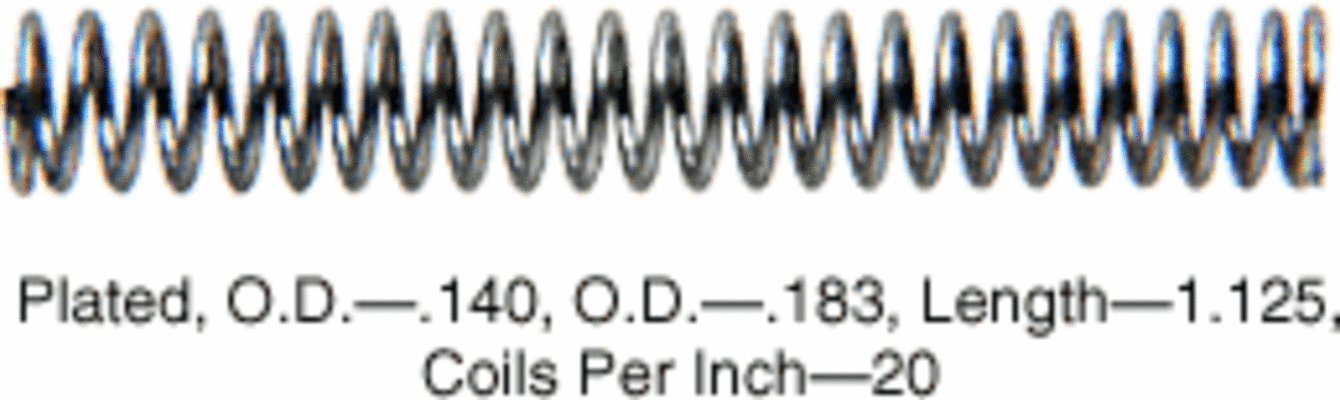 CRL 8530K 1.125; Long Slide Bolt Spring in a 20 Pack