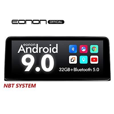 2020 Car Stereo Single Din Android 9.0 Car Radio, Eonon 10.25 Inch Car Stereo Support Apple Car Play/Android Auto/Bluetooth/WiFi/Fast Boot/Backup Camera Compatible with iDrive System -GA9303NB: Electronics