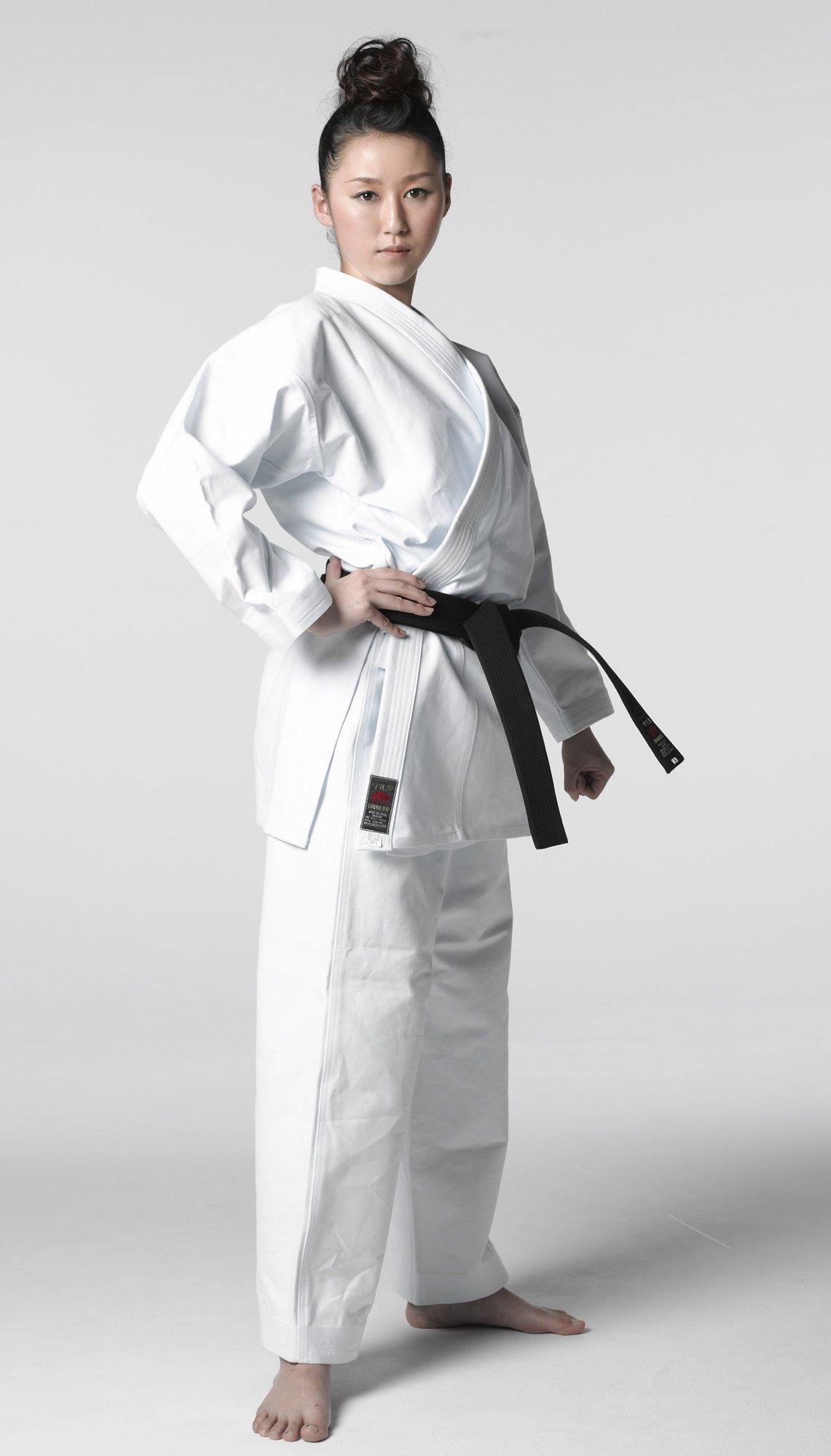 Shureido K-10 SENSEI Karate Gi Uniform White 100% Cotton (4/175 cm) by Shureido