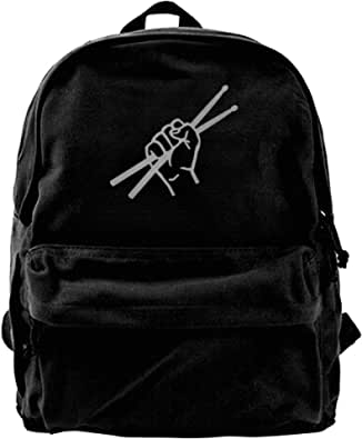 NJIASGFUI Mochila de lona para batería, gimnasio, senderismo, portátil, bolsa de hombro para hombres y mujeres