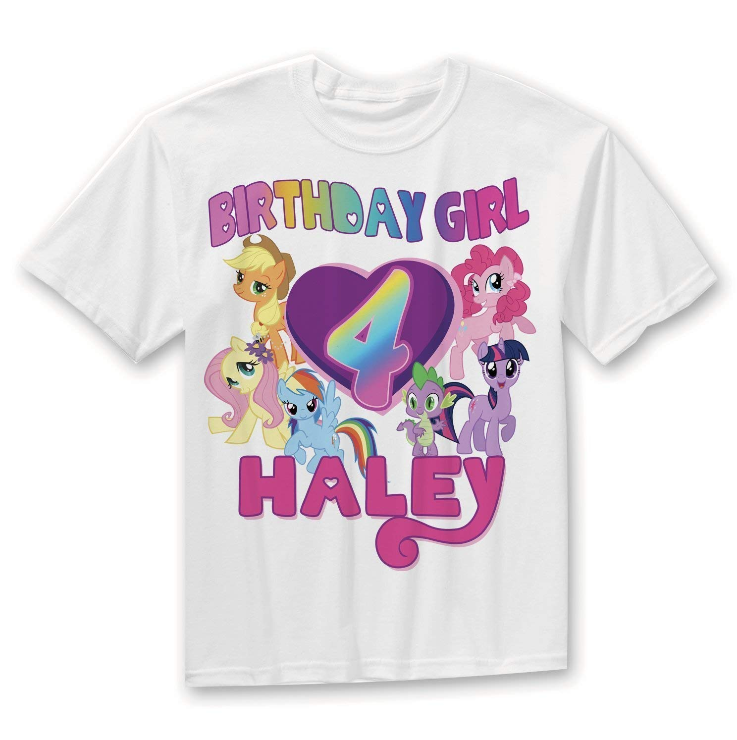 Amazon My Little Pony Birthday Shirt Rainbow Girl Handmade