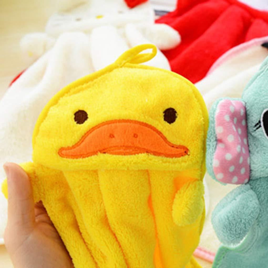 Topker Cute Cartoon Waterproof Apron Kitchen Restaurant Cooking Bib Aprons Small yellow duck