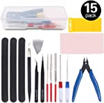 Rustark 15Pcs Professional Modeler Basic Tools Craft Set Model Tools Kit