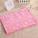 Vi.yo Pet Dog Cat Blanket Puppy Warm Bed Mat Paw Print Dog Puppy Fleece Soft Blanket for Kitties Puppies and Other Small Animals Large 1 Pc (Pink)