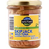 Wild Planet Wild Skipjack Tuna in Pure Olive Oil, Keto and Paleo, 3rd Party Mercury Tested, 6.7 Ounce