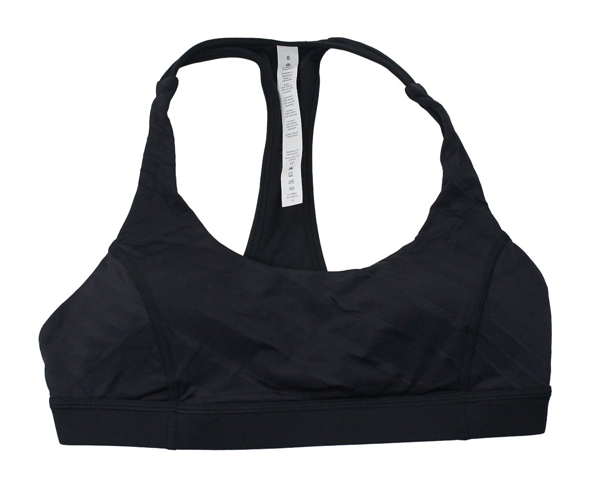 1c791f2bef Amazon.com  Lululemon Black Hot Like Agni Bra  Sports   Outdoors