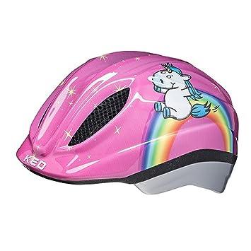 KED Meggy II Originals - Casco de Bicicleta Niños - Rosa Contorno de la Cabeza XS