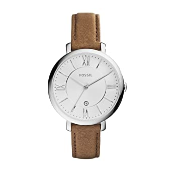 a63d2cec297c Fossil Women s Jacqueline Quartz Stainless Steel and Leather Casual Watch