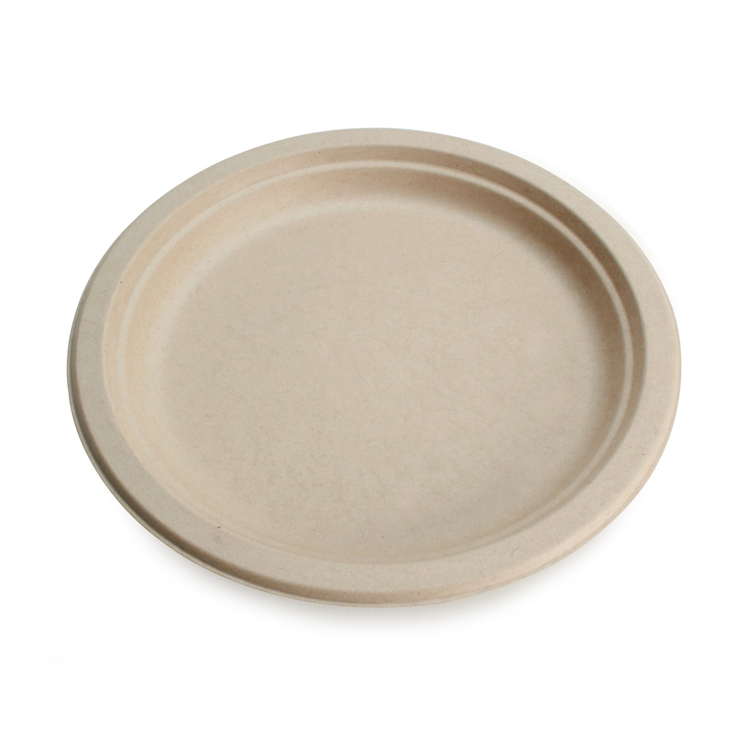 Earth's Natural Alternative Eco-Friendly, Natural Compostable Plant Fiber 9'' Plate, Natural, 500 Count by Earth's Natural Alternative