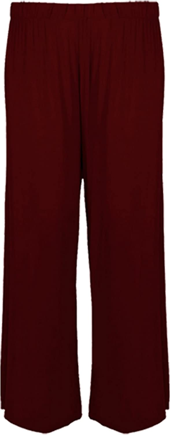 Candid Styles Women Stretchy Wide Palazzo Ladies Summer Baggy Flared Skater Trouser Pants 8-26