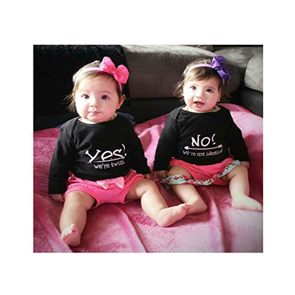 Amazon.com: YSCULBUTOL Body para bebé Sí Somos gemelos No ...