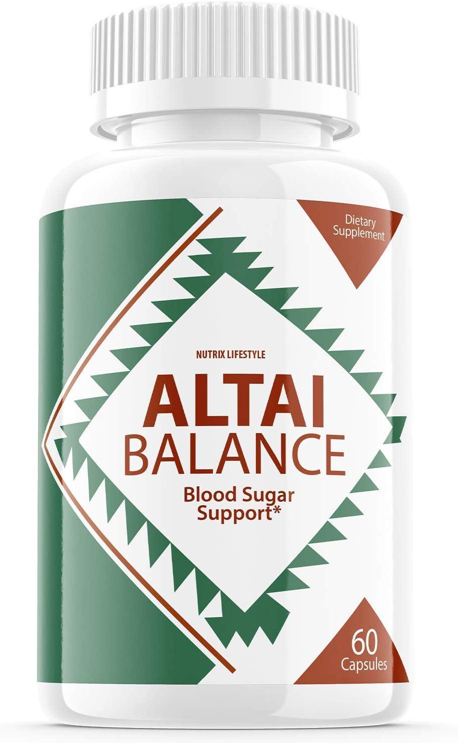 Altai Balance Blood Sugar Support Supplement Pills (60 Capsules)