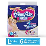 MamyPoko Pants Extra Absorb Diaper, Large (Pack of 64)