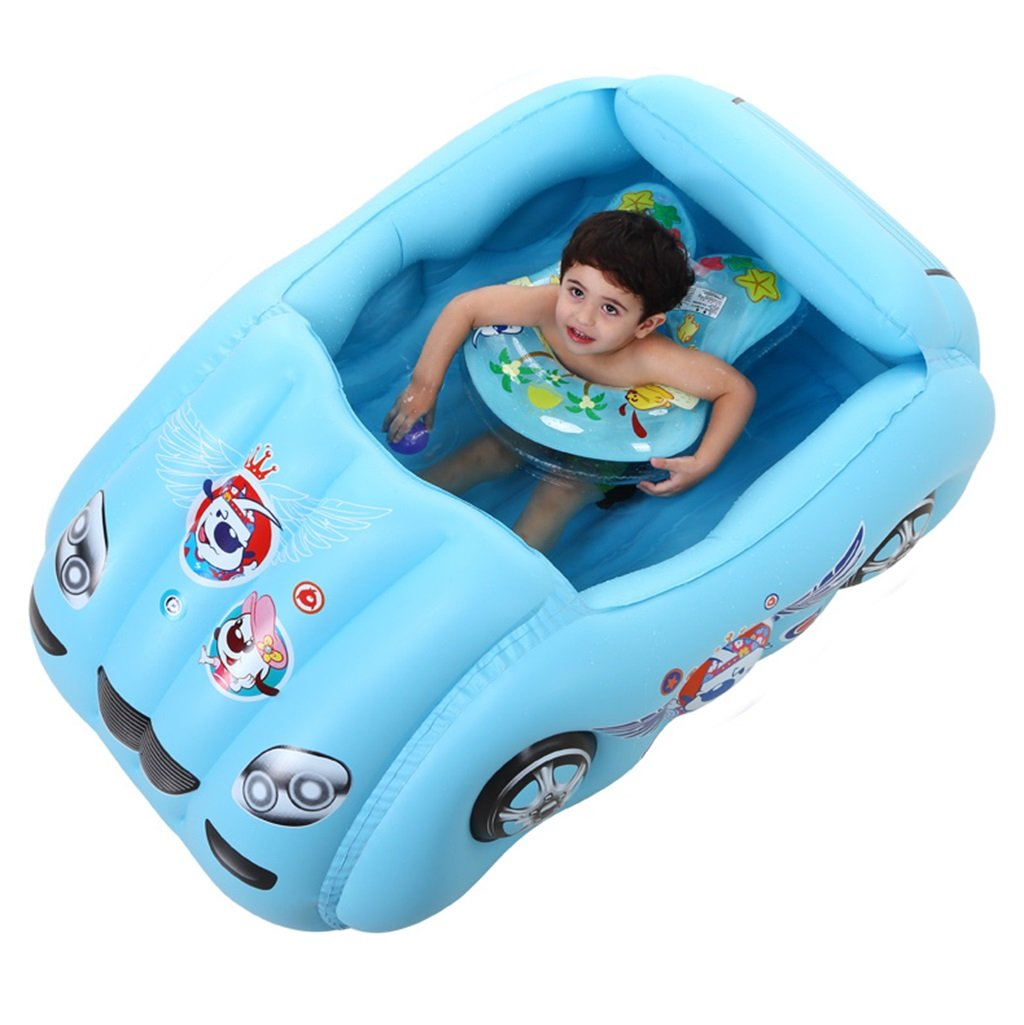 WYP Car Model Children's Pool Blue PVC Inflatable Bathtub (Color : Green)