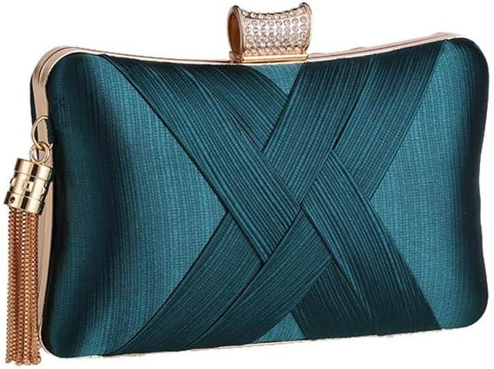 Vioaplem Women's Fashion Sparkly Tassel Mini Clutch Bag Wristlet Evening Handbag Catching Purse Bag For Wedding Party (Color : Golden a) Apricot