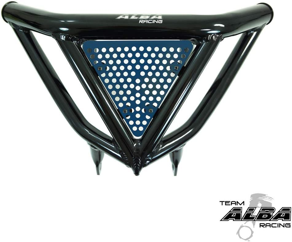 2004-2009 and 2012-2013 Intimidator Front Bumper Black with Blue and Black screen Please Carefully Read Fitment Specifications Yamaha YFZ 450