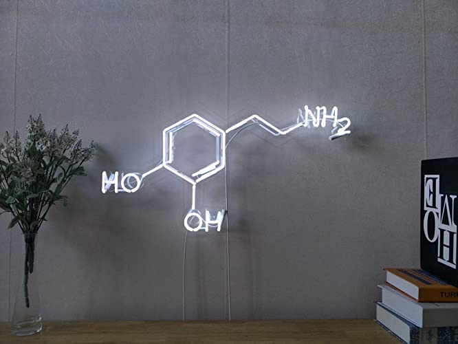 Amazon Chemical Symbol For Dopamine Real Glass Neon Sign For