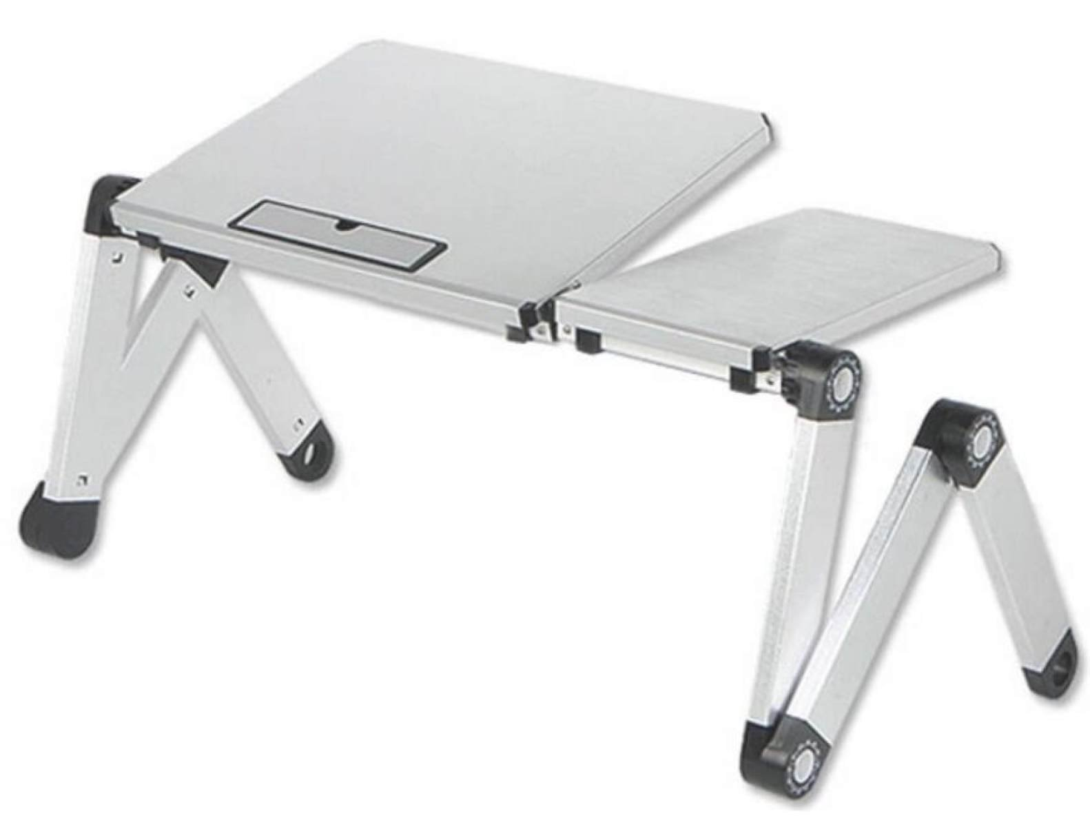 Laptop Table Aluminum Computer Table Bed Computer Table Folding Table Children 's Table Bed Tray,White-OneSize