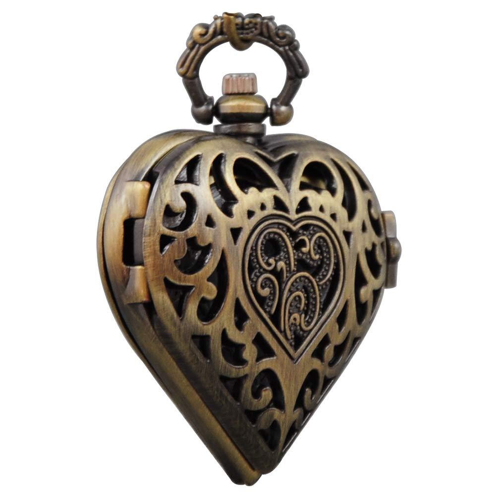 VIGOROSO Women's Steampunk Pocket Watch Heart Harry Potter ...
