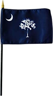 product image for 4x6 E-Gloss South Carolina Stick Flag - Flag Only - Made in The USA