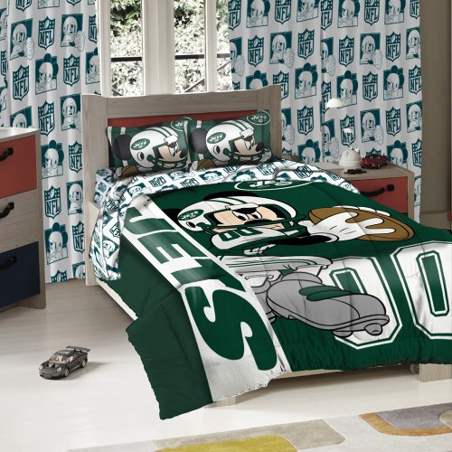 New York Jets Comforter (New York Jets NFL Twin/Full Sized Comforter with Shams)