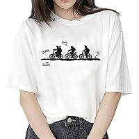 Camiseta Stranger Things, Camiseta Stranger Things Mujer Niña Impresión T-Shirt Abecedario Camiseta Stranger Things…