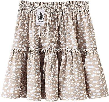 FELZ Falda Mujer Corta Falda Mujer Verano Falda de Mujer Polka Dot ...